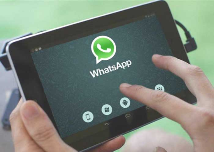 Download and install WhatsApp on tablet