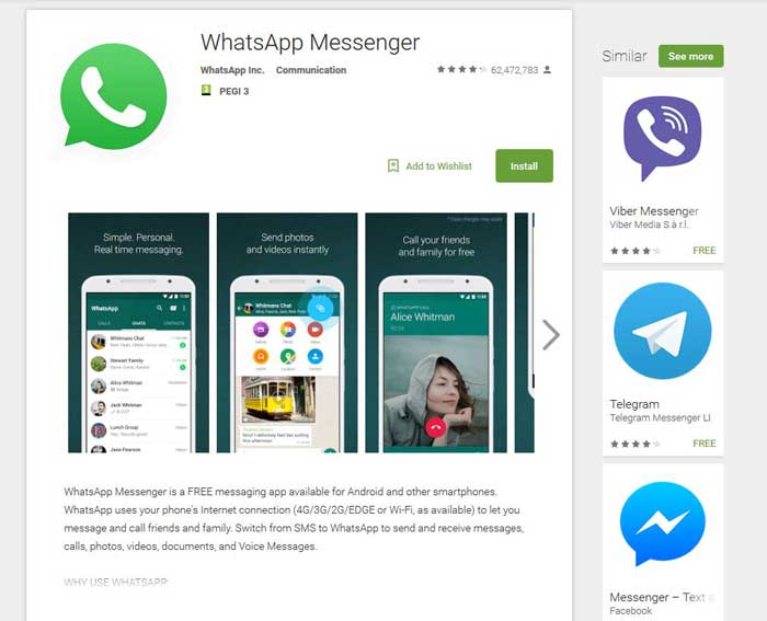 install whatsapp android app