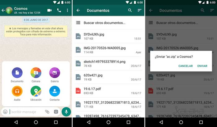 Send any type of file on whatsapp