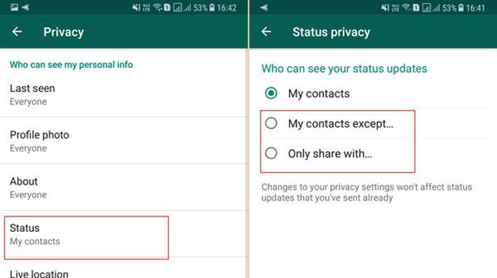 WhatsApp hiding personal profile photo