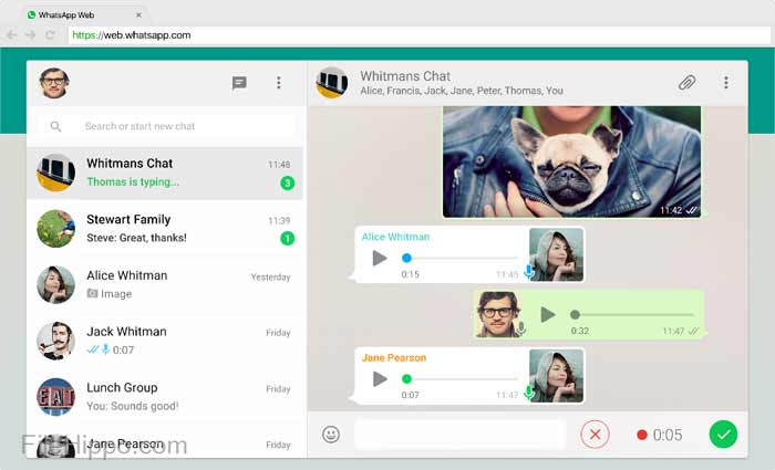 WhatsApp desktop application